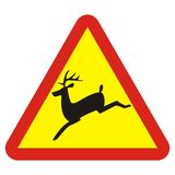 Traffic sign, deer Stock Photo