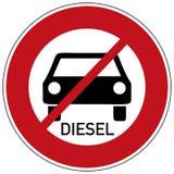 Diesel driving prohibited. Traffic sign diesel driving prohibited, isolated on white Stock Images
