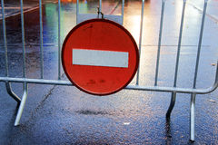 Traffic sign about do not enter Royalty Free Stock Images