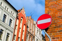 Traffic sign - do not enter Royalty Free Stock Image