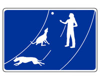 Traffic sign for dogs Stock Photos