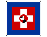 Traffic sign for dogs Stock Photography