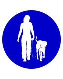 Traffic sign for dogs Royalty Free Stock Images