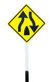 Traffic sign  Dual Carriage Way End Royalty Free Stock Photos