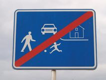 Traffic sign end residential areas Stock Images