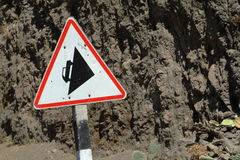 Traffic sign in Ethiopia. A crazy uphill Traffic sign in Ethiopia Stock Photography