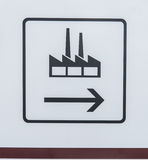 Traffic sign for factory Royalty Free Stock Photos