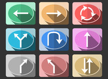 Traffic sign flat icons Royalty Free Stock Photography