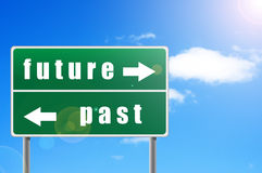 Traffic Sign Future Past. Stock Images