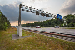 Traffic Sign Gantry Royalty Free Stock Photography