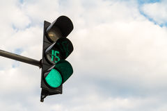 Traffic Sign on Green Royalty Free Stock Photos