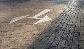 Traffic Sign on ground Stock Image