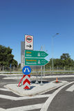 Traffic sign for highway in Greece Royalty Free Stock Photo