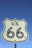 Traffic sign on Historic route 66. Traffic sign on American highway Historic route 66 royalty free stock photo