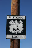 The traffic sign Historic route 66 Stock Photo