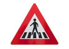 Free Traffic Sign Isolated - Pedestrian Crossing Stock Images - 131131974