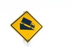 Traffic sign isolated white background Stock Image
