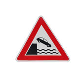 Traffic sign on jetty Royalty Free Stock Photo