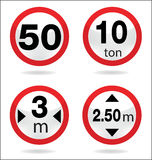 Traffic sign of limit Royalty Free Stock Photo