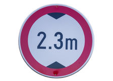 Traffic sign for low clearance 3 Royalty Free Stock Image