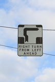 Traffic sign Melbourne. Confusing traffic rules - Hook turn sign in Melbourne Australia Stock Photos