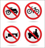 Traffic sign of motorcycle Royalty Free Stock Photos