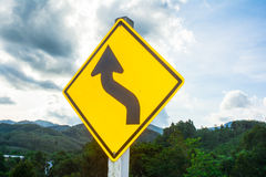 Traffic sign on natural Stock Image