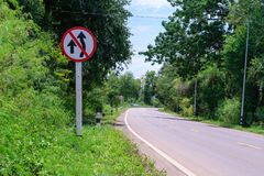 Traffic sign no over taking royalty free stock photography