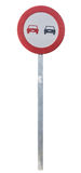 Traffic sign no overtaking Royalty Free Stock Images