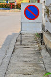 Traffic sign no park Royalty Free Stock Photos