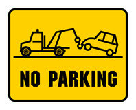 Traffic sign - no parking Royalty Free Stock Photo