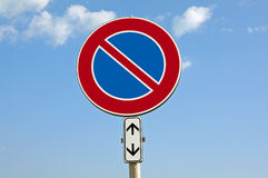 No parking with add panel. Traffic sign  Royalty Free Stock Photos