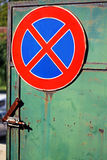 Traffic sign. No Standing. Stock Photo