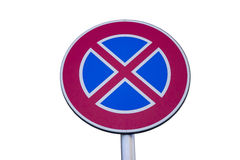 Traffic sign for no stopping and parking 2 Royalty Free Stock Image