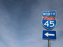 Traffic sign north drection royalty free stock photos