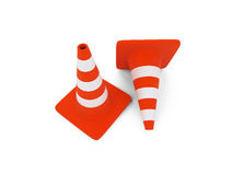 Traffic sign object over white Stock Photos