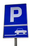 Traffic sign for parking place Stock Photos