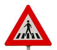Traffic sign for pedestrian crossing royalty free stock photo