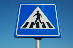 Traffic sign; pedestrian crosswalk Royalty Free Stock Images
