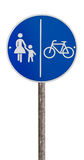 Traffic sign for pedestrians and cyclists Stock Image