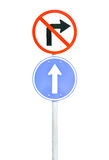 Traffic sign pole Royalty Free Stock Photo