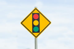 Traffic sign post in isolate Stock Image
