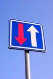 Traffic sign precedence Royalty Free Stock Photos