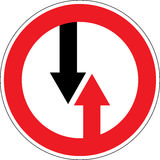 Traffic sign of a priority. No priority sign in vectors Stock Photography