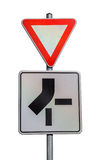 Traffic sign for priority route Stock Photo