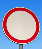Traffic sign prohibiting movement Stock Photography