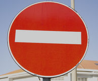 Traffic sign of prohibition Royalty Free Stock Images