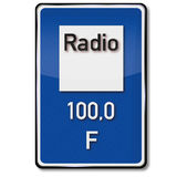 Traffic sign radio stations Stock Images
