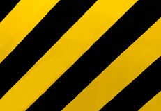 Traffic Sign: A rectangular sign with diagonal yellow and black stripes, wherever there is a median or other obstruction. Royalty Free Stock Image
