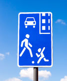 Traffic sign Residential Zone Stock Photos